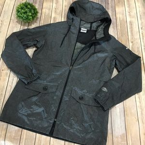 Columbia | Omni Tech Charcoal Gray Tain Coat Large